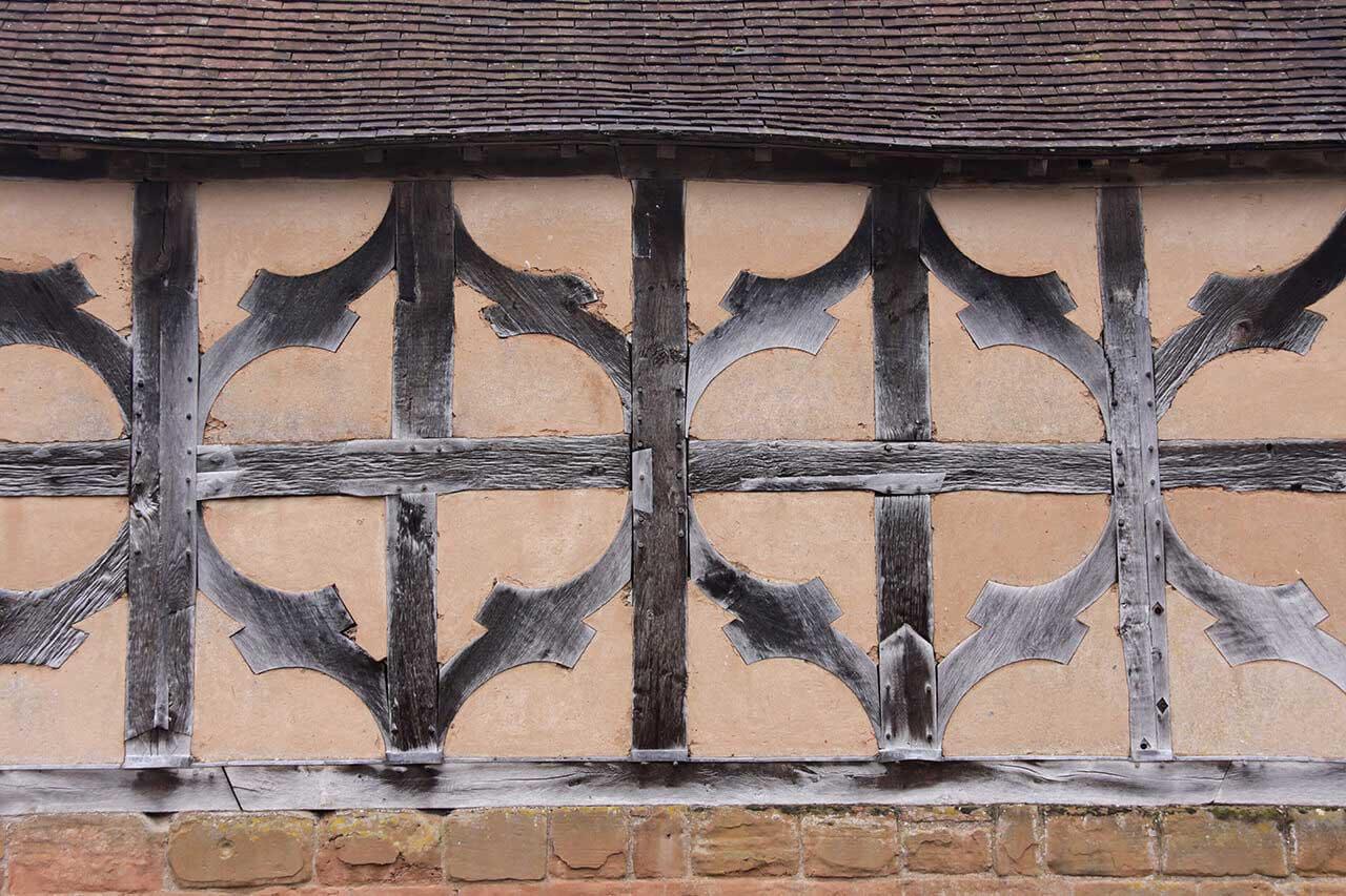 Detail of medieval house in Kenilworth